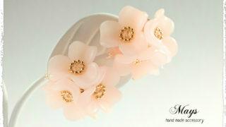 『flower*garden』 レジン フラワー アクセサリー 作品