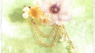 『 Spring garden*Pearl 』 フラワーレジン アクセサリー 作品